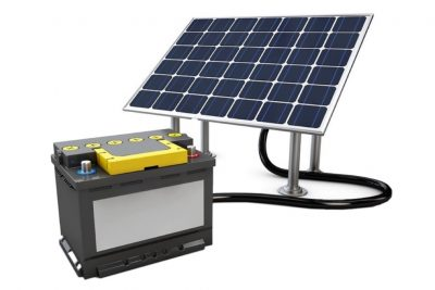 Batería con su Panel Solar