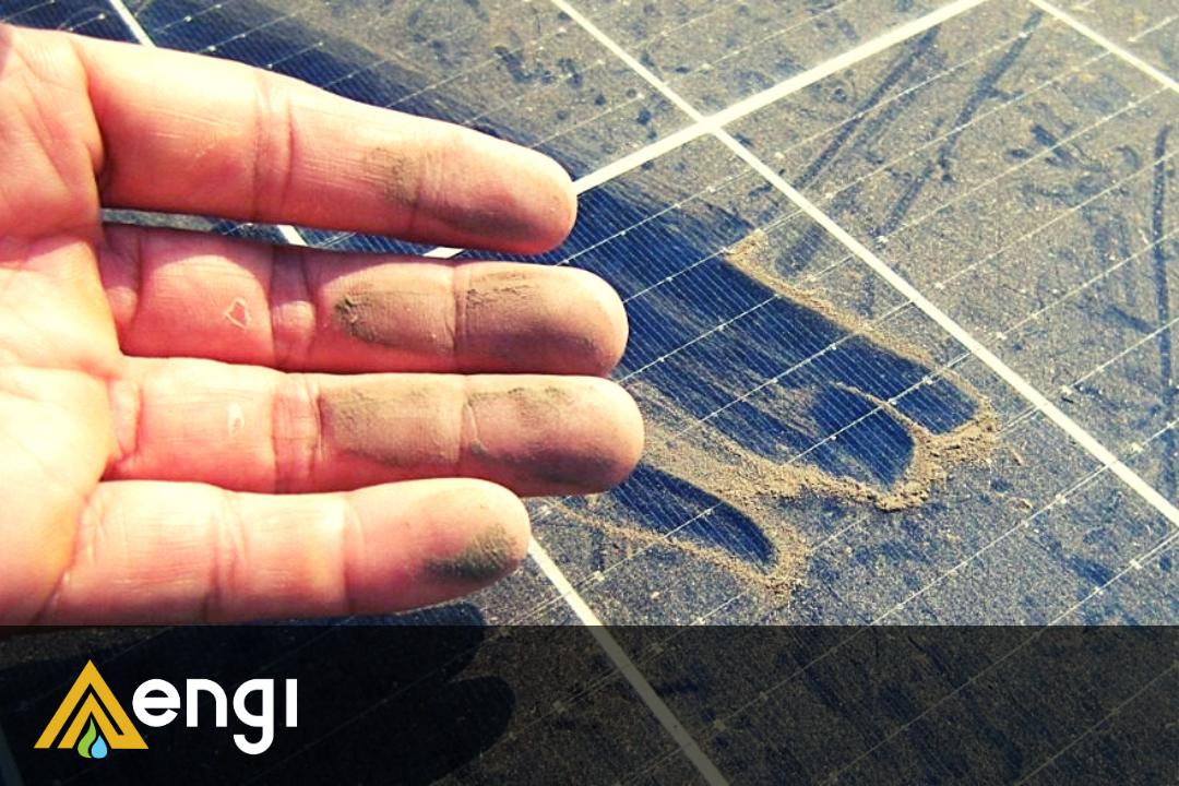 Panel Solar sucio