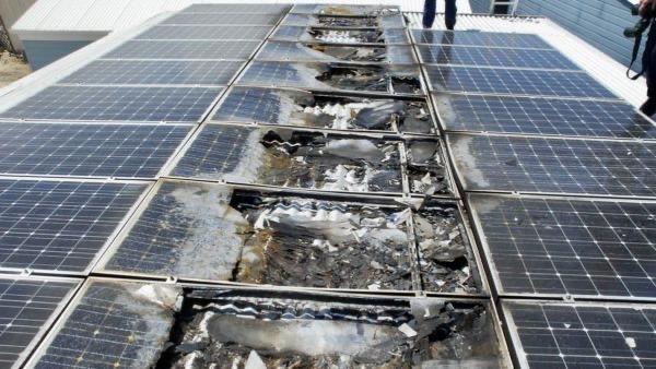Panel Solar Quemado