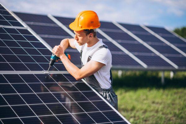 Worker Solar Panels
